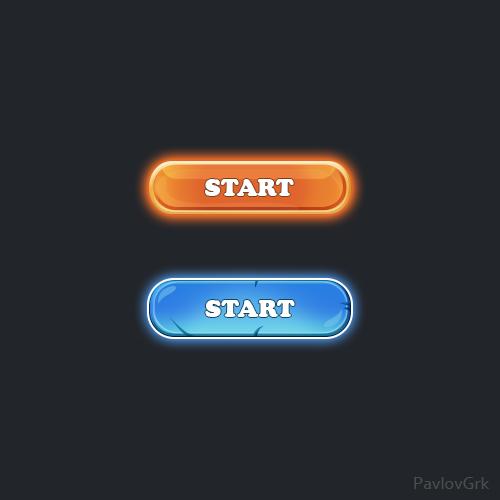 Game button | UI Каждый день! (комментарии)