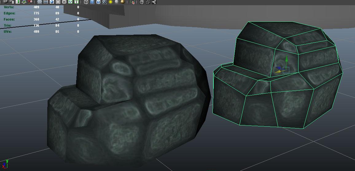 1-2   Мой первый камень и текстура хэнпэинт.