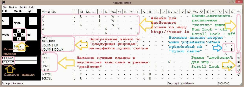 Жестурь | Жестурь / Gestureo (жесты мышек - в очередь клавиш) [MS-VC 6]