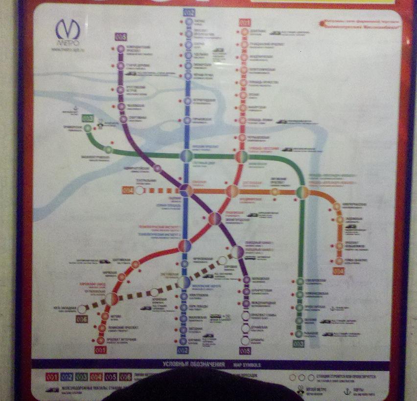 схема линий метро СПБ