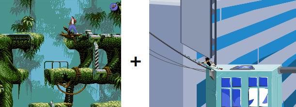 FlashBack + Mirror's edge 2D | Платформер мечты