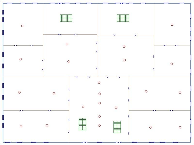 Схема одного этажа здания