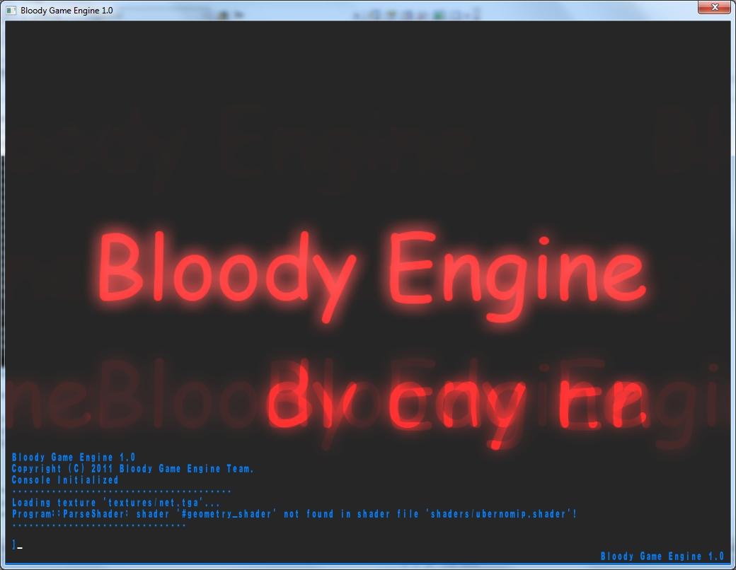 BldCon | Шрифты, консоль, гуи, материалы, шейдеры в Blooody Game Engine