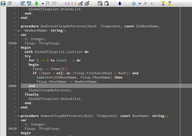 Как заменить код в delphi