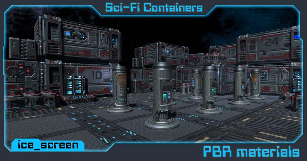 Sci_container | 3d Artist - локации, окружение и объекты.