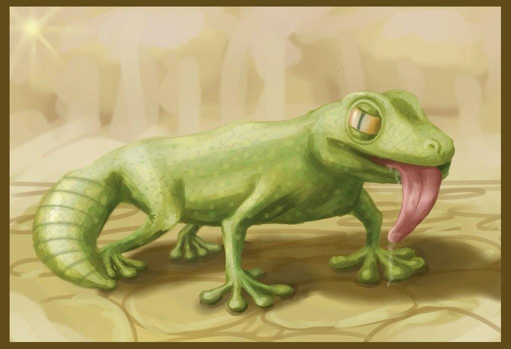 gecko_by_maltakreuz-d63p99e | Maltakreuz рисует львиц и не только