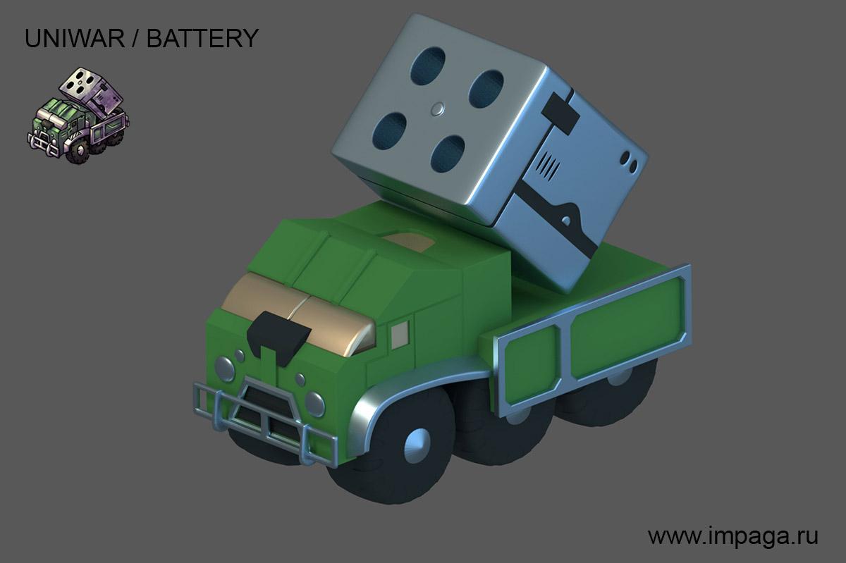 Uniwar / Battery | Uniwar в 3D