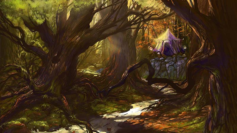 осенний лес   2d художник