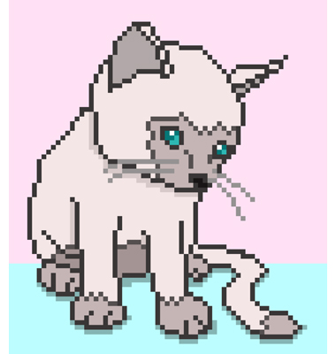 32 | Помогите нарисовать анимацию кошки в Pixel Art