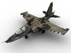 Низкополигональное моделирование самолёта.