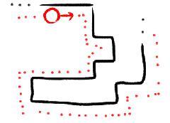 Движение объекта по контуру других объектов (Box2d)