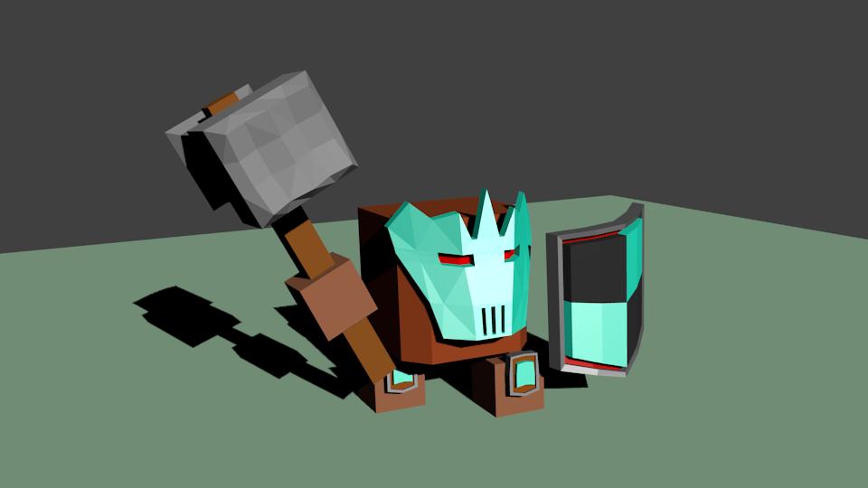 Woin2   Простые модельки из нескольких кубиков