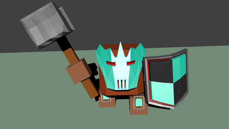 Woin3   Простые модельки из нескольких кубиков